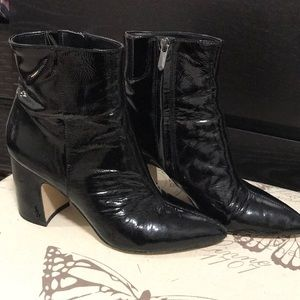 BARELY WORN! Sam Edelman patent leather booties